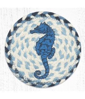 LC-525 Seahorse Round Large Coaster 7 in.x7 in.