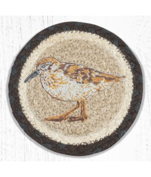 LC-599 Sandpiper Round Large Coaster 7 in.x7 in.