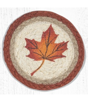 LC-601 Maple Leaf Round Large Coaster 7 in.x7 in.