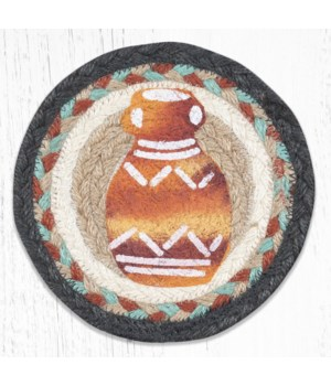 LC-782 Pottery Round Large Coaster 7 in.x7 in.