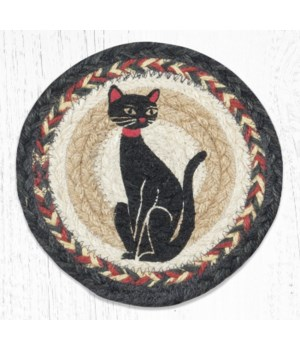 LC-9-238 Crazy Cat Round Large Coaster 7 in.x7 in.