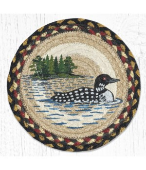 MSPR-43 Loon Patch Printed Round Trivet 10 in.x10 in.