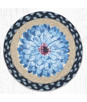 MSPR-312 Blue Boho Flower Printed Round Trivet 10 in.x10 in.