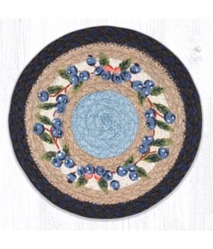 MSPR-312 Blueberry Vine Printed Round Trivet 10 x 10 x 0.17 in.