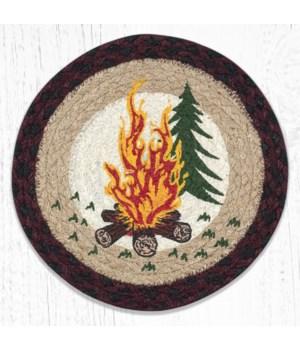 MSPR-395 Campfire Printed Round Trivet 10 in.x10 in.