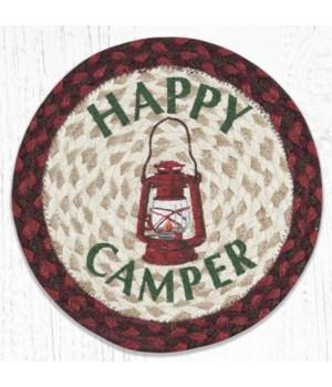 MSPR-417 Happy Camper Printed Round Trivet 10 in.x10 in.