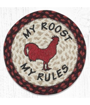 MSPR-417 My Rules Printed Round Trivet 10 in.x10 in.