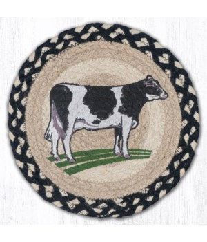 "MSPR-430 Cow Printed Round Trivet 10""x10"""