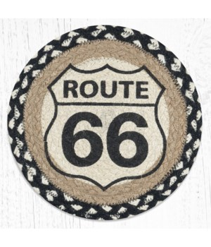 MSPR-430 Route 66 Printed Round Trivet 10 in.x10 in.