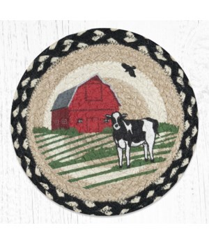 MSPR-430 Red Barn Printed Round Trivet 10 in.x10 in.