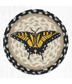 MSPR-430 Swallowtail Butterfly Printed Round Trivet 10 in.x10 in.
