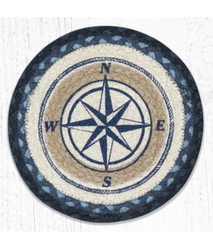 MSPR-443 Compass Rose Printed Round Trivet 10 in.x10 in.