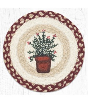 MSPR-524 Thyme Printed Round Trivet 10 in.x10 in.