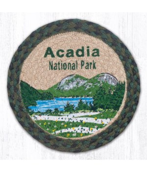 "MSPR-610 Acadia Bubbles Printed Round Trivet 10""x10"""