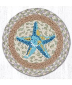 """MSPR-611 Starfish Printed Round Trivet 10""""x10"""""""