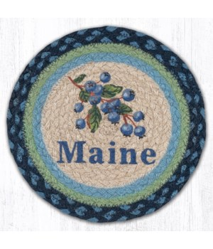 "MSPR-700 Blueberry Maine Printed Round Trivet 10""x10"""