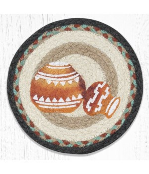 MSPR-782 Pottery Printed Round Trivet 10 in.x10 in.