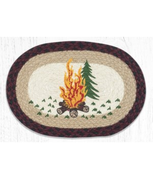 MSP-395 Campfire Printed Oval Swatch 10 x 15 in.