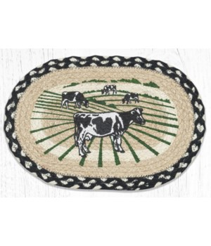 MSP-430 Cows Printed Oval Swatch 10 x 15 in.