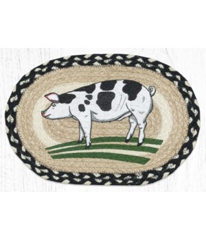 MSP-430 Pig Printed Oval Swatch 10 x 15 in.