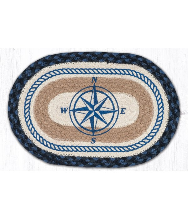 """MSP-443 Compass Rose Printed Oval Swatch 10""""x15"""""""