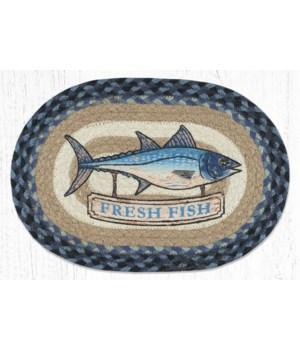MSP-443 Fresh Fish Printed Oval Swatch 10 x 15 in.
