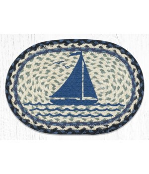MSP-443 Sailboat Printed Oval Swatch 10 x 15 in.