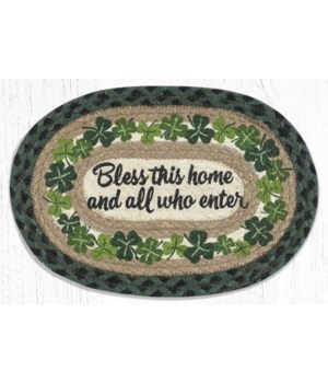 MSP-605 Bless this Home Printed Oval Swatch 10 x 15 in.