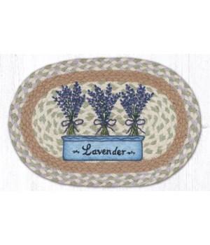 "MSP-611 Lavender Printed Oval Swatch 10""x15"""