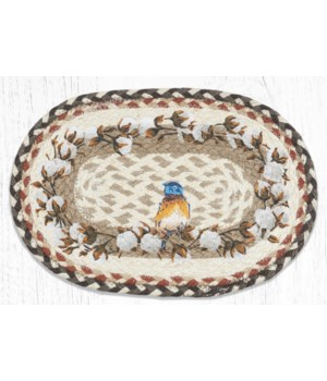 MSP-616 Cotton Wreath Printed Oval Swatch 10 x 15 in.