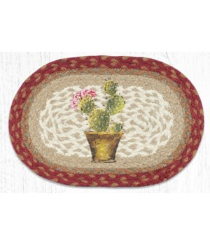 MSP-617 Cactus Printed Oval Swatch 10 x 15 in.