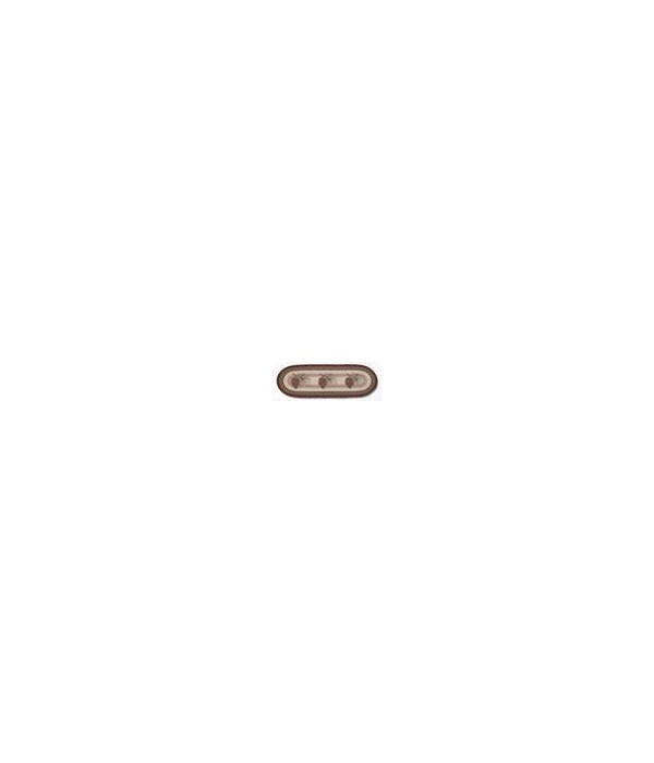 OP-81 Pinecone Oval Patch 2'x6'x0.17 in.