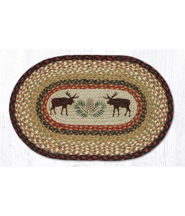 """OP-19 Moose/Pinecone Oval Patch 27""""x45"""""""