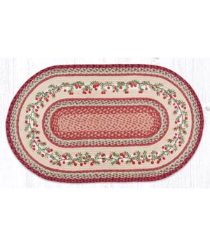 OP-390 Cranberries Oval Patch 27 x 45 x 0.17 in.