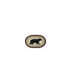 OP-395 Cabin Bear Oval Patch 27 x 45 x 0.17 in.