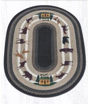 OP-583 Lodge Animals Oval Patch 27 x 45 x 0.17 in.