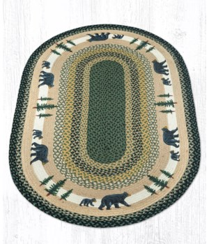 OP-116 Bear Timbers Oval Patch 3'x5'