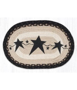 OP-313 Primitive Stars Black Oval Patch 3'x5'