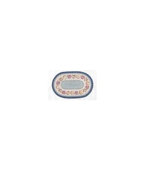 OP-362 Shells Oval Patch 3'x5'x0.17 in.
