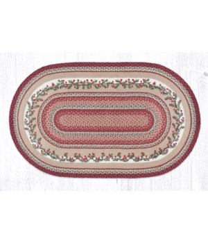 OP-390 Cranberries Oval Patch 3'x5'x0.17 in.