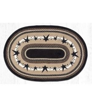 OP-313 Primitive Stars Black Oval Patch 4'x6'