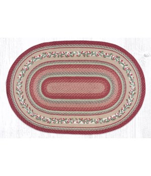 OP-390 Cranberries Oval Patch 4'x6'x0.17 in.