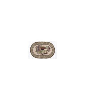 OP-116 Bear Timbers Oval Patch 5'x8'x0.17 in.