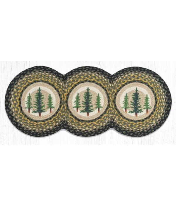 TCP-116 Tall Timbers Printed Tri Circle Runner 15 in.x36 in.