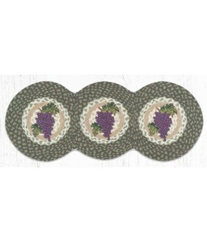 TCP-575 Grapes Printed Tri Circle Runner 15 in.x36 in.