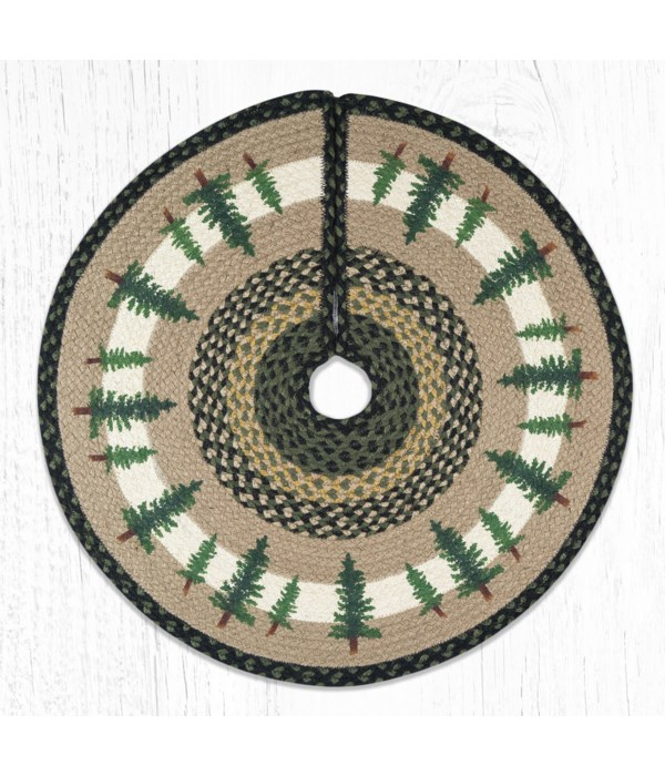 TSP-116 Tall Timbers Printed Tree Skirt Round 30 in.x30 in.