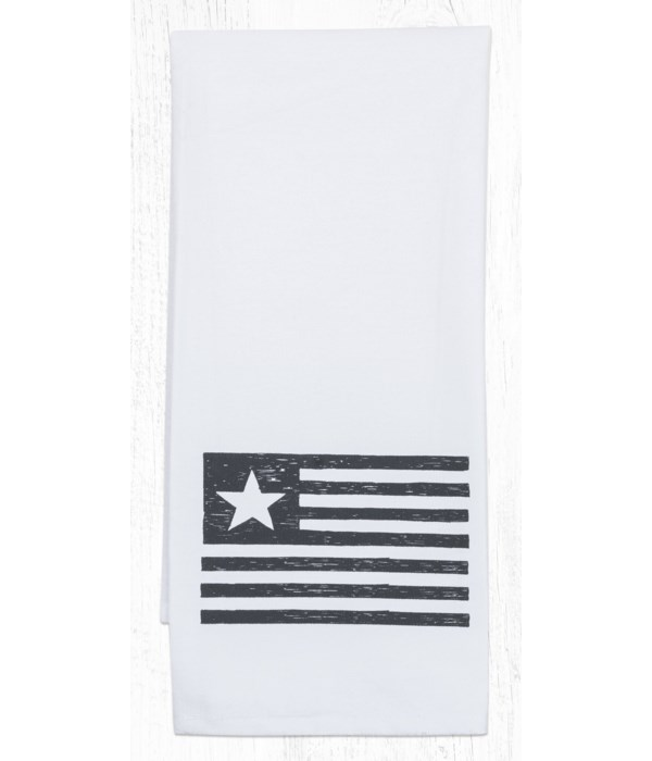 T-15 Flag Cotton Tea Towels 20 in.x28 in.