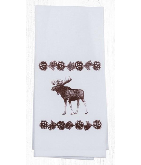 T-19 Moose Cotton Tea Towels 20 in.x28 in.