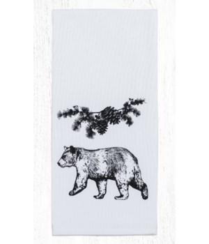 T-313 Bear Cotton Tea Towels 20 in.x28 in.