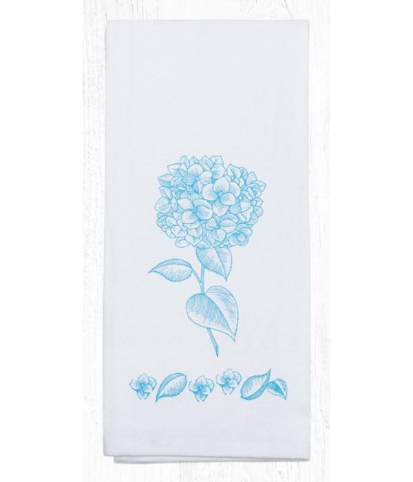 T-592 Hydrangea Cotton Tea Towels 20 in.x28 in.